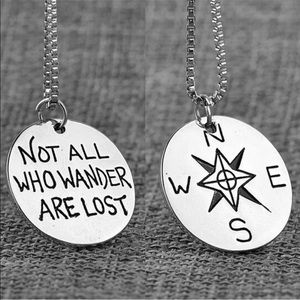 Jewelry - Silver Not All Who Wander Are Lost Necklace